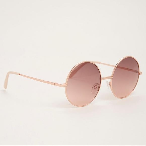 d38421dfa2a98 Torrid rose gold round sunglasses